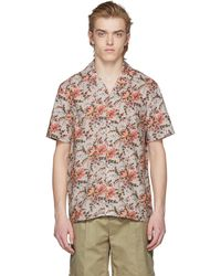 Éditions MR | Beige And Orange Tahiti Shirt | Lyst