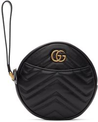 Gucci ブラック GG マーモント 2.0 クラッチ