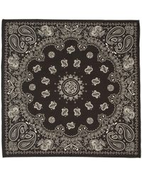 Alexander Wang - Black And Grey Bandana Scarf - Lyst
