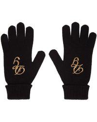 Dolce & Gabbana - Black Cashmere Logo Gloves - Lyst