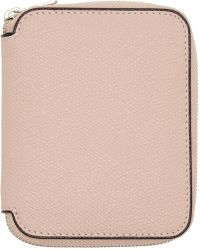 Valextra - Pink 6cc Zip Around Wallet - Lyst