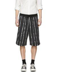 3.1 Phillip Lim - Black Painted Stripe Shorts - Lyst