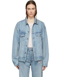Levi's - Blue Denim Baggy Trucker Jacket - Lyst