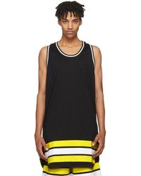 Givenchy | Black Oversized Striped Tank Top | Lyst
