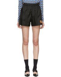 Prada - Black Nylon Gabardine Sport Shorts - Lyst
