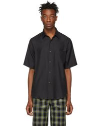 Cobra S.C. - Black Silk Short Sleeve Shirt - Lyst