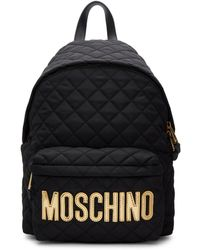 Moschino - Quilted Logo Backpack - Lyst