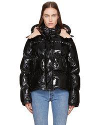 Moncler - Black Down Shiny Hooded Gaura Jacket - Lyst