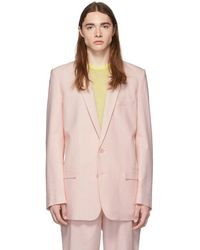 Tibi - Ssense Exclusive Pink Long Blazer - Lyst