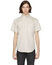 Naked & Famous | White Vintage Flowers Shirt | Lyst