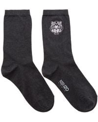 KENZO - Grey Tiger Socks - Lyst