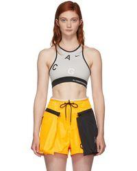 Nike - Grey Nrg Acg 2 Bra - Lyst