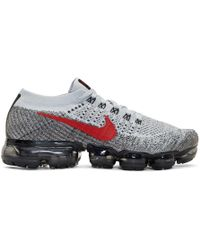 Nike - Grey And Red Air Vapormax Running Trainers - Lyst