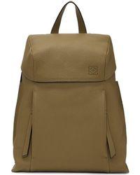 Loewe - Brown Small T Backpack - Lyst