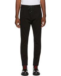 HUGO - Black Zander 184 Trousers - Lyst