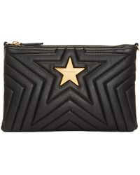 Stella McCartney | Black Quilted Pouch | Lyst