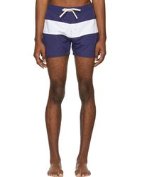 Saturdays NYC - Blue And White Grant Board Shorts - Lyst