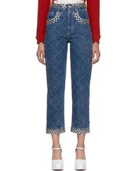 Gucci - Blue Crystal Pocket Jeans - Lyst