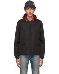 Gucci - Black Gg Windbreaker Jacket - Lyst
