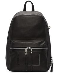 Rick Owens - Black Leather Backpack - Lyst