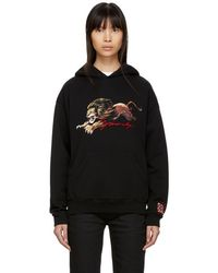 Givenchy - Black Embroidered Lion Hoodie - Lyst