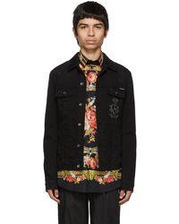 Dolce & Gabbana - Black Denim Jacket - Lyst