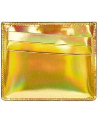 Maison Margiela - Gold And Silver Metallic Bicolor Card Holder - Lyst