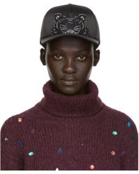 KENZO - Black Limited Edition Holiday Satin Tiger Cap - Lyst