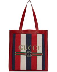 Gucci - Tricolor Striped Tote - Lyst