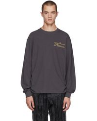 Alexander Wang - Black Long Sleeve Rodeo Drive Platinum T-shirt - Lyst