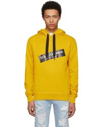 Dolce & Gabbana | Yellow Oversized Logo Hoodie | Lyst