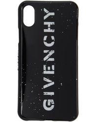 Givenchy - Black Stencil Logo Iphone X Case - Lyst