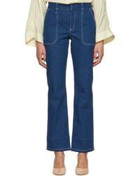 Chloé - Blue Contrast Stitch Jeans - Lyst