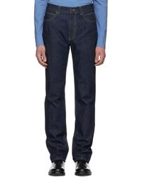 CALVIN KLEIN 205W39NYC - Blue High-rise Straight Jeans - Lyst
