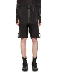Y-3 - Black Rain Zip Shorts - Lyst