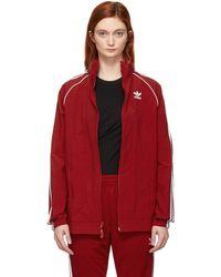 adidas Originals - Red Sst Adicolor Windbreaker Track Jacket - Lyst
