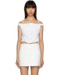 T By Alexander Wang - White High Twist Tie Tank Top - Lyst