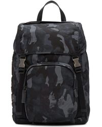 Prada - Blue Camouflage Character Backpack - Lyst