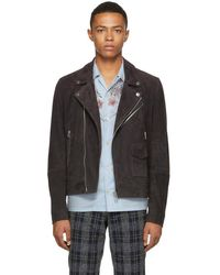 PS by Paul Smith - Grey Suede Jacket - Lyst