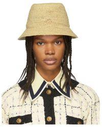 Gucci - Beige GG Straw Hat - Lyst