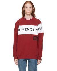 d26af922945 Blanc Slogan Coloris Judas Lyst Pour Imprimé À Sweat Givenchy Homme En  wvAq7OC