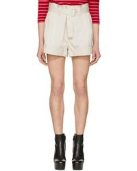 Marc Jacobs - Off-white High-rise Pleated Shorts - Lyst