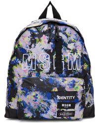 MSGM - Multicolour Eastpak Edition Flowers Backpack - Lyst