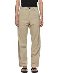 JW Anderson - Beige Flax Chino Trousers - Lyst