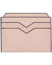 Valextra - Pink 4cc Card Holder - Lyst