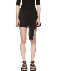 3.1 Phillip Lim | Black And Blue Waist Tie Shorts | Lyst