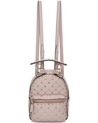 Valentino | Pink Garavani Paper Leather Mini Quilted Backpack | Lyst