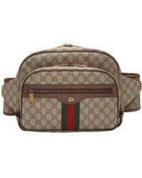 Gucci - Brown GG Supreme Ophidia Belt Bag - Lyst