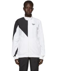 Reebok - White And Black Lost And Found Track Jacket - Lyst