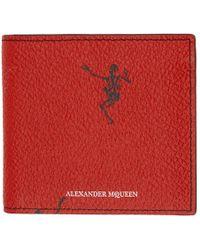 Alexander McQueen - Red Dancing Skeleton Wallet - Lyst